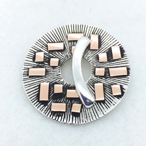 MC2 35mm sterling silver and copper toggle