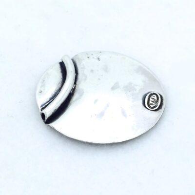 P1 Sterling Silver w/Copper Spiral Pendant