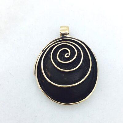 BP18 bronze spiral pendant