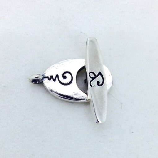 ST49 sterling silver Yan toggle