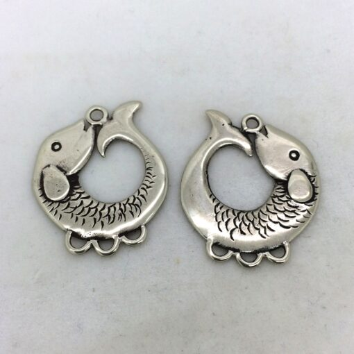 BP57 white bronze Koi charms