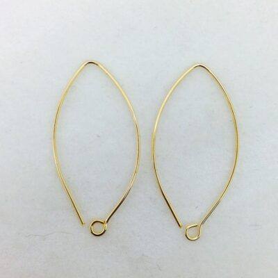 SE27 bronze earwire, 10 pr