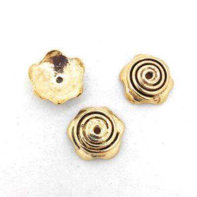 BC3 bronze spiral bead cap