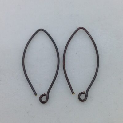 SE39 blackened bronze earwires, 10 pr
