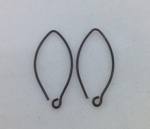 SE39 blackened bronze earwires, 10 pr