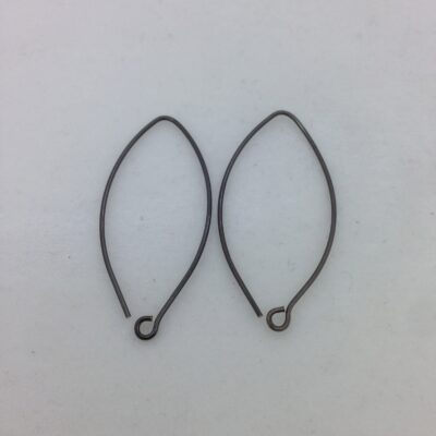 SE26 blackened bronze earwires, 10 pr