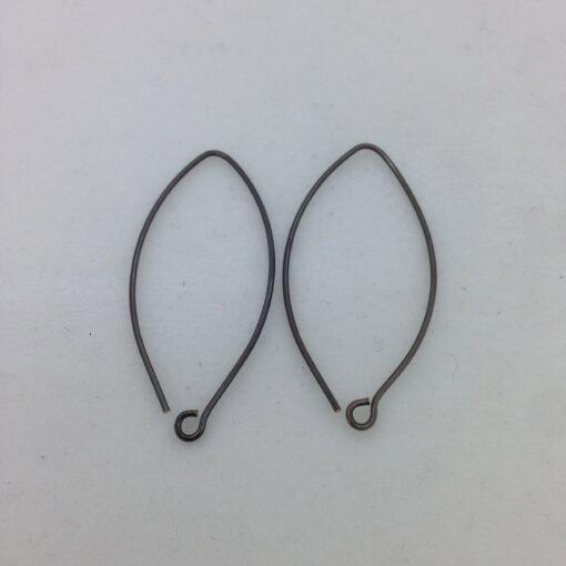SE26 blackened bronze earwires, 10 pr