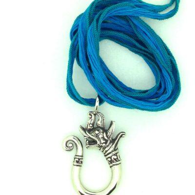 White Bronze Dragon Pendant