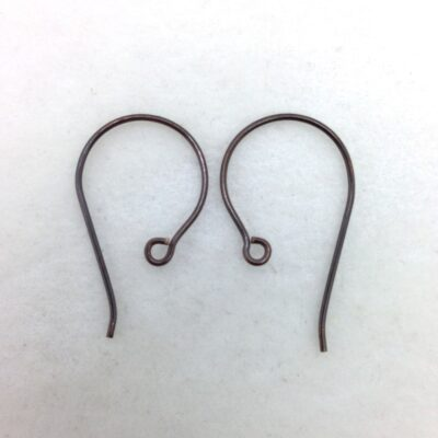 SE43 blackened bronze earwire, 10pr
