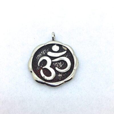 WBP36 white bronze OM pendant