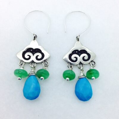 EFW1 Nepali Cloud Earring Finding pair