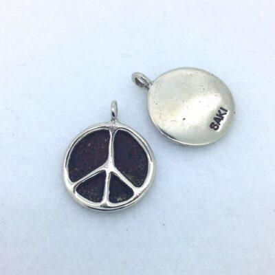BPW58 18mm white bronze peace charm