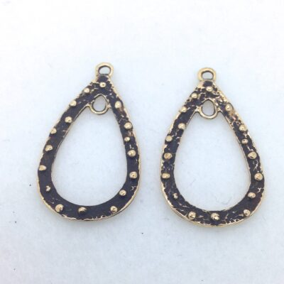 EF2 bronze teardrop earring finding