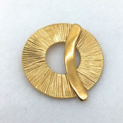 ST59g 38mm Gold Plated Bronze Double Strand Toggle