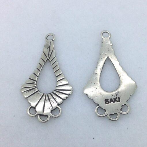 EFW5 white bronze earring finding