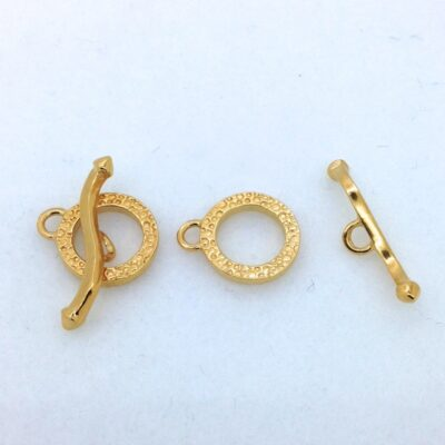 ST41g 14mm gold plated toggle, 2p.