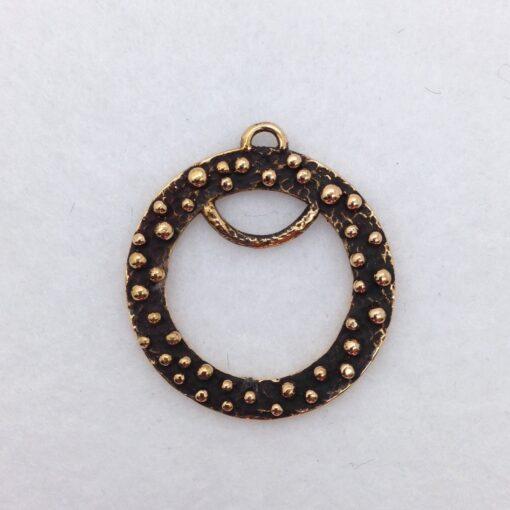 BP45 bronze pendant/earring finding