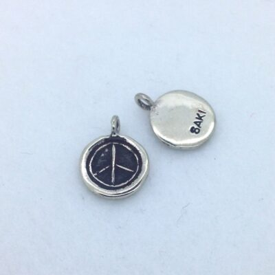 BPW29 10mm white bronze peace charm