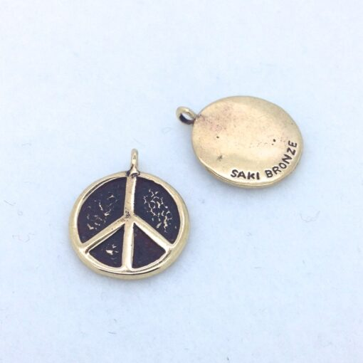 BP58 18mm bronze peace charm