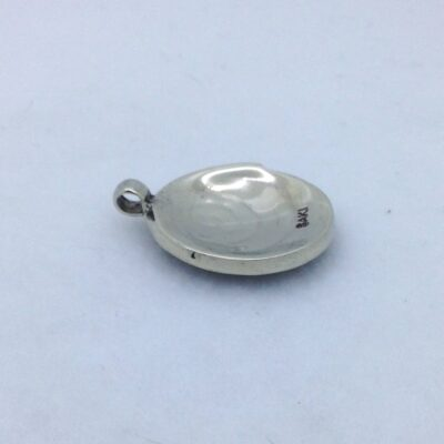 BPW18 white bronze spiral pendant