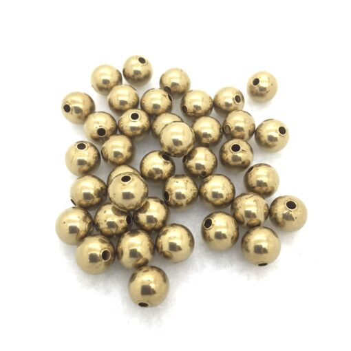 8mm round brass beads
