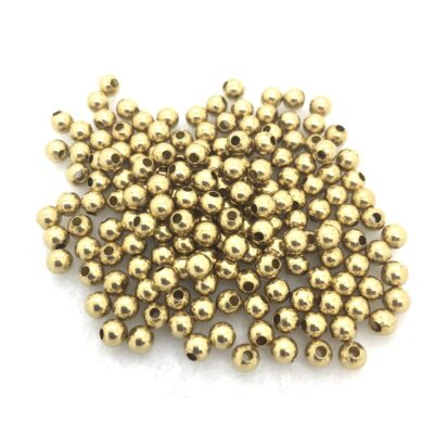 4mm round brass beads