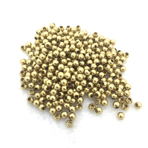 3mm round brass beads