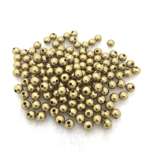 5mm round brass beads
