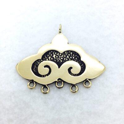 nepali clouds bronze pendant/link