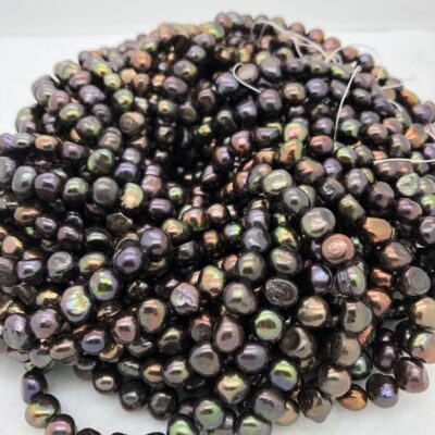 7mm dark brown freshwater pearl