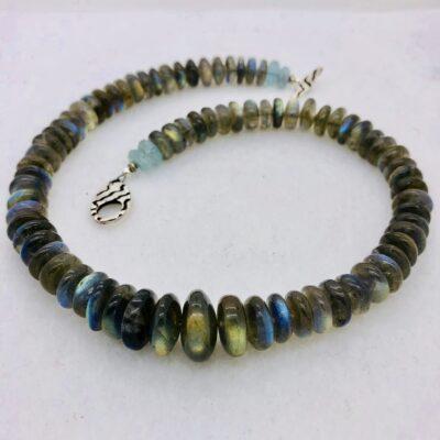 Blue Flame Labradorite Necklace