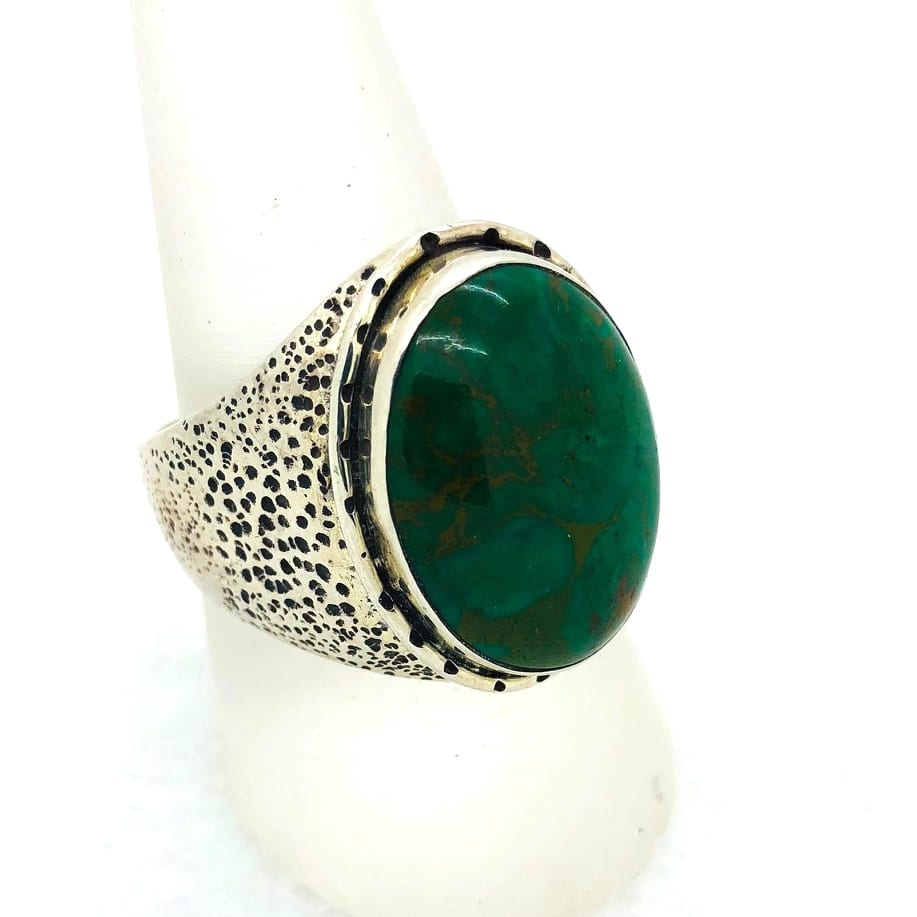 Nevada Green Agate Ring