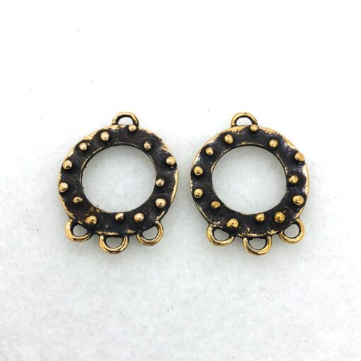 bronze earring finding
