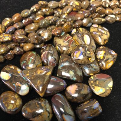 Boulder Opal and Cabochons